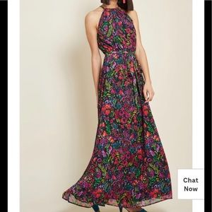 ModCloth chiffon maxi dress